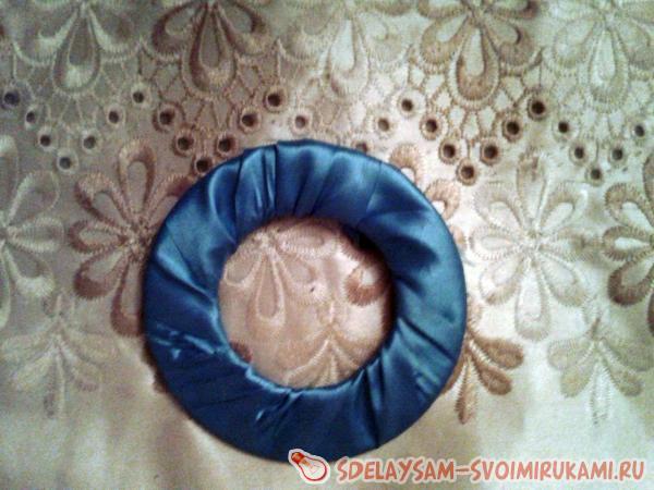 оборачиваем диск тканью