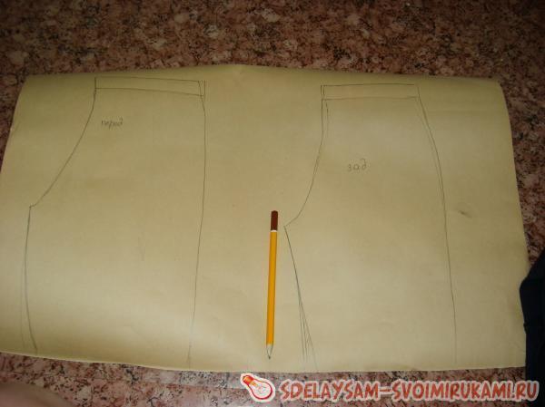 Выкройка шорты для мальчика своими руками