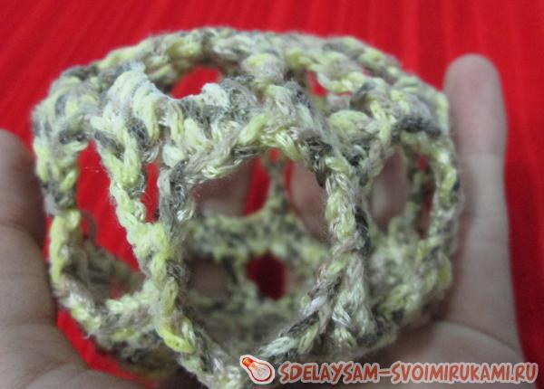 Вязание крючком елочного украшения