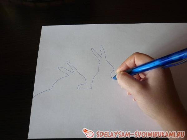нарисуйте контуры