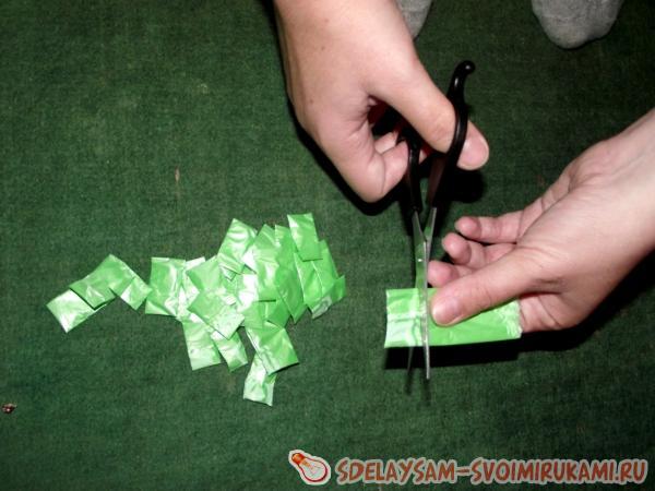 we cut strips