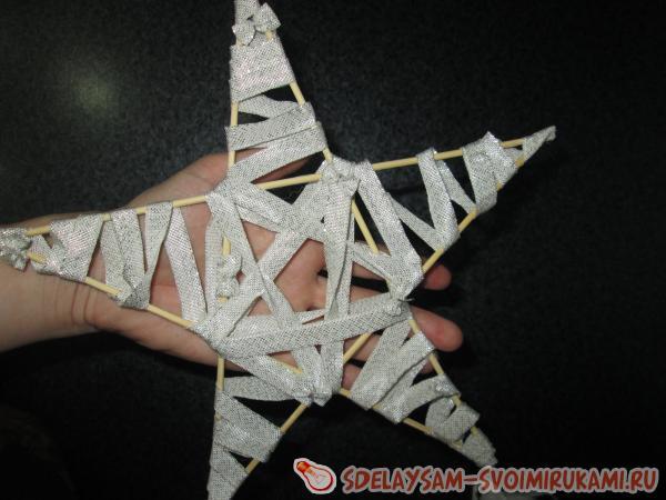 Звезда на палочке своими руками