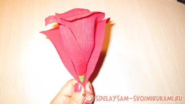 Формируем бутон розы