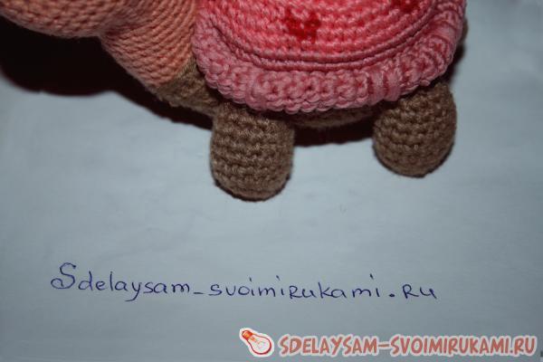 Cute turtle made of wool