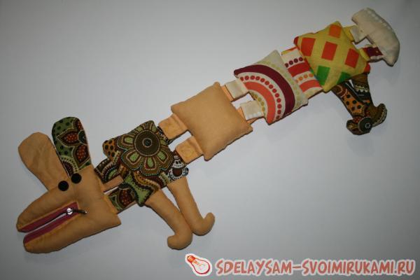 Текстильная собачка