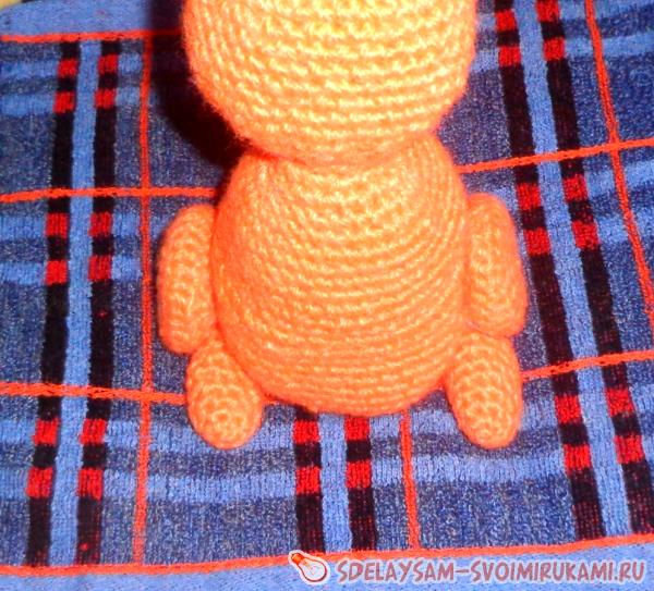 Knitted toy Squirrel