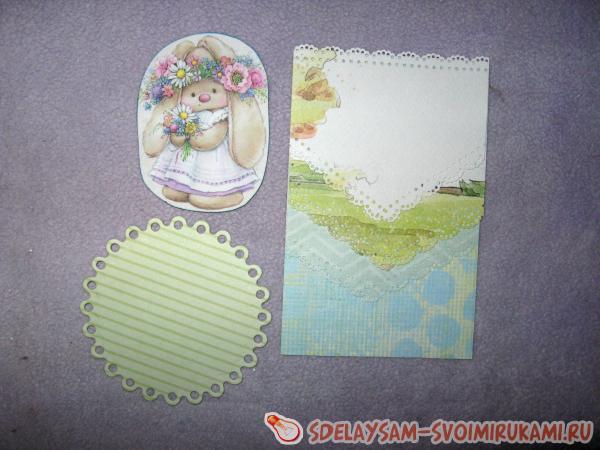 Пасхальная открытка с декорациям