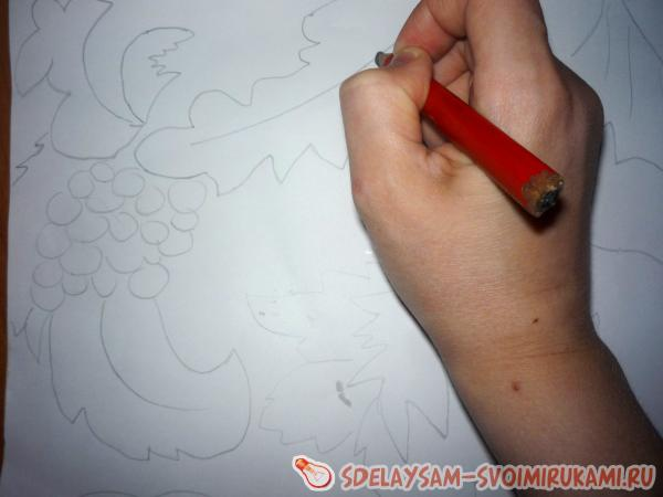 нанести рисунок карандашом