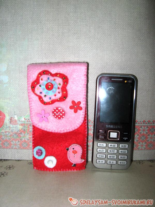 Чехол из фетра для мобильного телефона