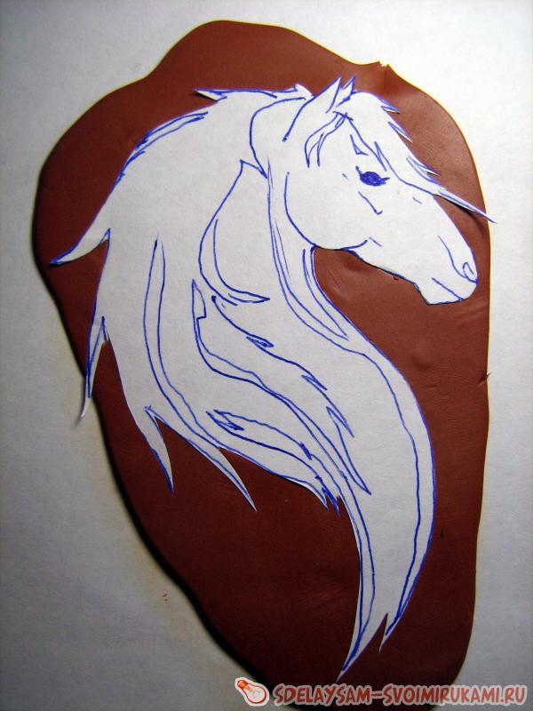 """Магнит """"Подкова с головой лошади"""" 3 см (3628491) - Купить по"""