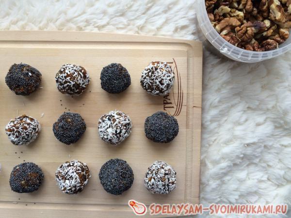 Полезные конфеты из сухофрутов