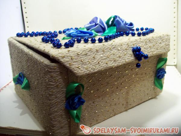 Изготовление шкатулки «Голубое сияние»
