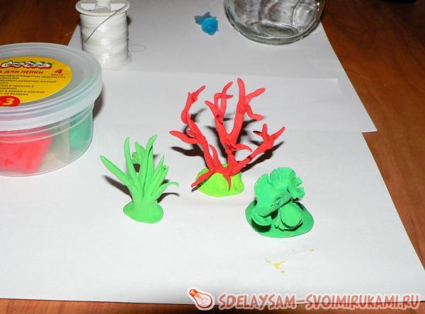 лепим кораллы