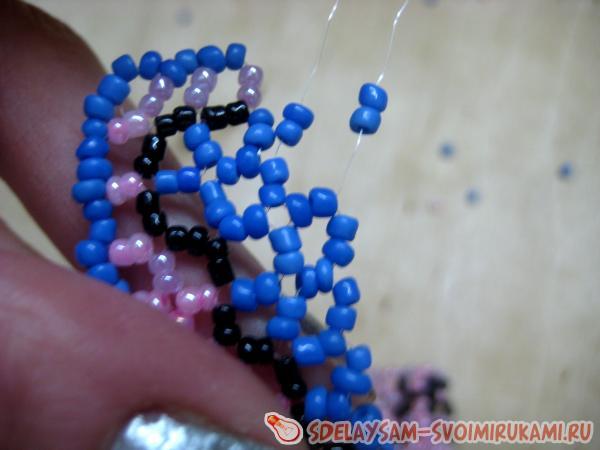 Name bracelet from beads