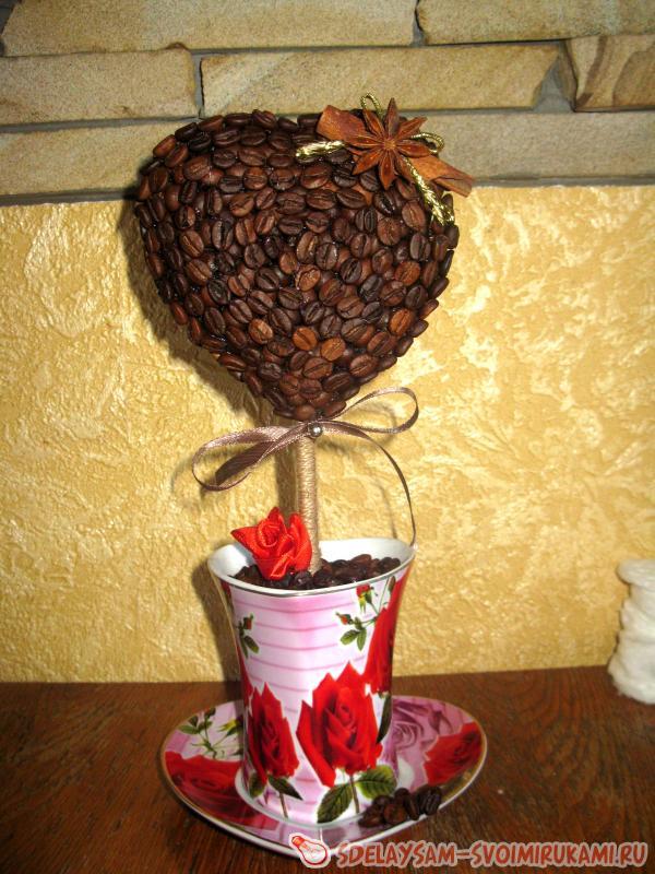 Кофейный топиарий «Сердце»
