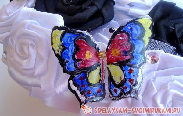 Делаем витражную подвеску бабочку – Ярмарка Мастеров