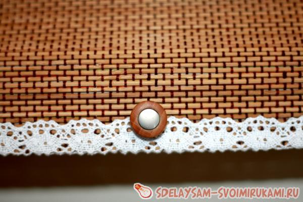 Хлебница из бамбуковой салфетки