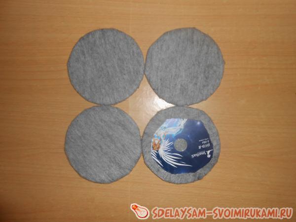Шкатулка из CD дисков