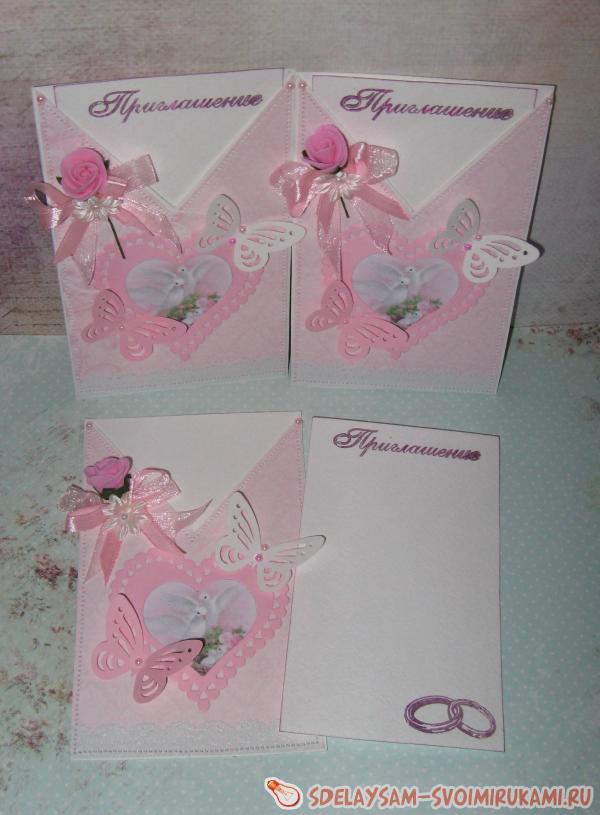 Приглашения на свадьбу в виде конвертиков