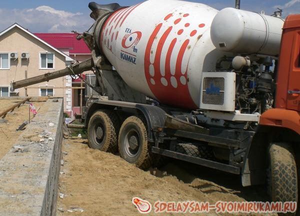Concreting process