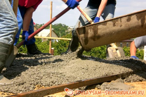 The process of concreting