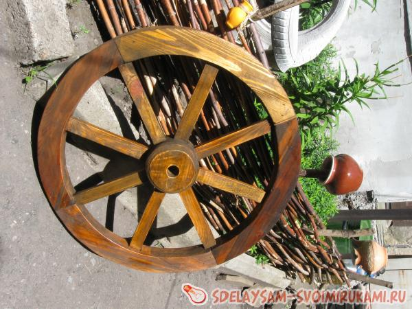 Making a wooden wheel