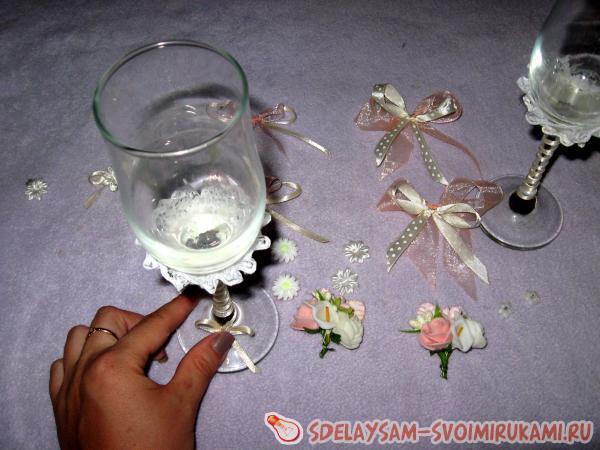 Wedding glasses decor