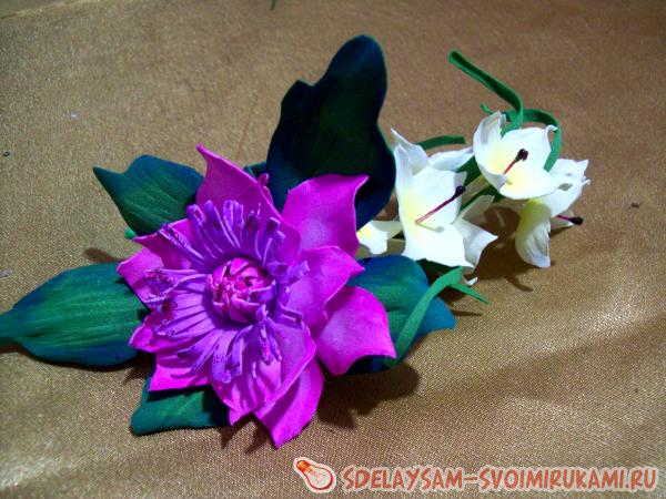 украшению бокалов цветами