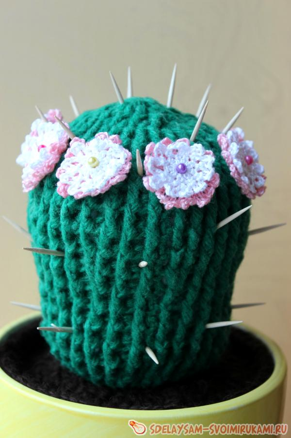 цветущие кактусы крючком мастер класс своими руками