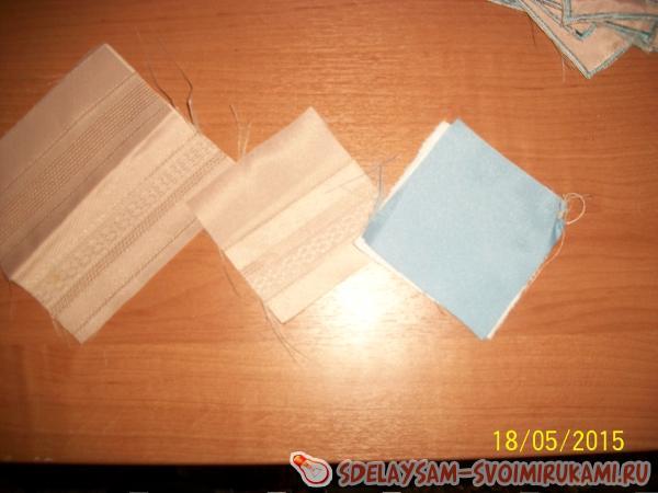 квадратики ткани разных цветов
