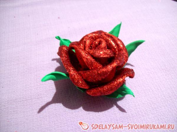Глиттерный фоамиран: бантики, цветы, заколки. Мастер-класс