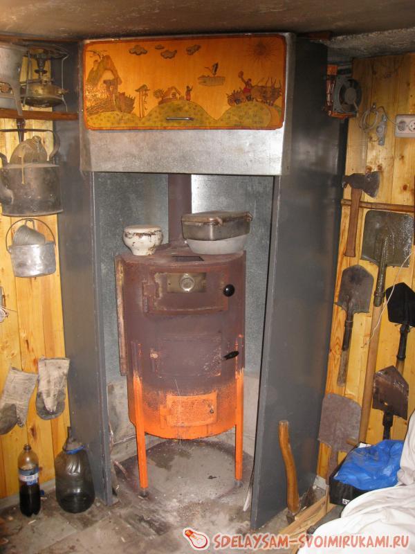 простая печка в гараж