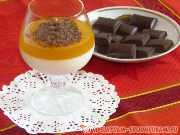 Панакота с шоколадом и апельсинами - Едим и худеем