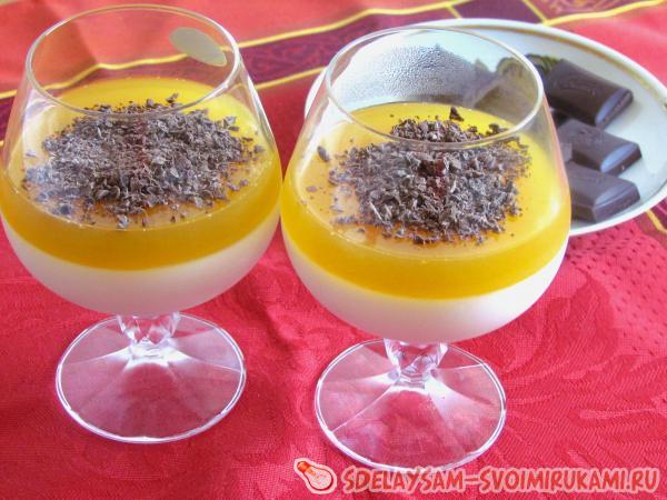 Панакота с апельсиновым соком