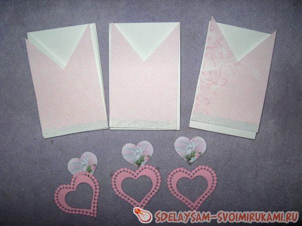 Приглашения на свадьбу в виде конверта
