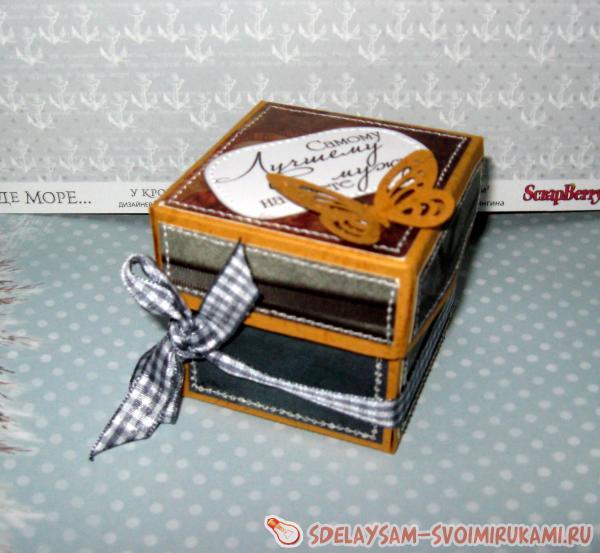 Мужская коробочка для подарка
