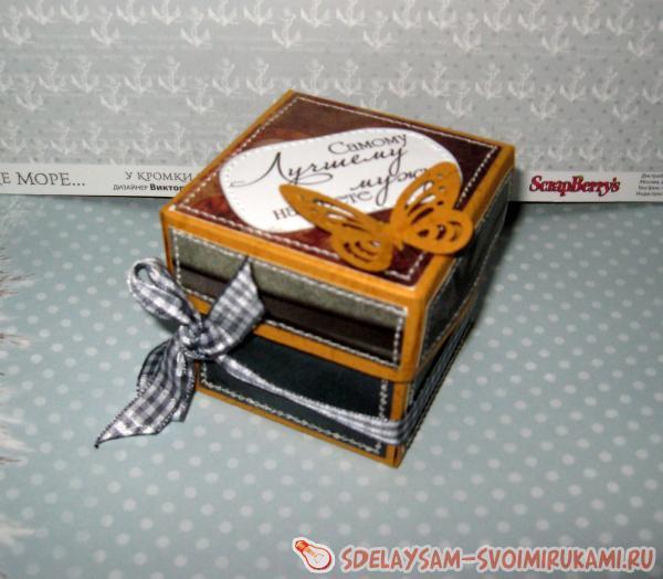 Мужская мини-коробочка для подарка