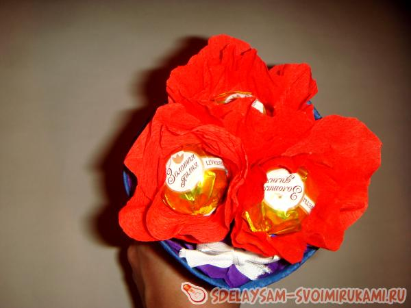a bouquet of candy Buttons