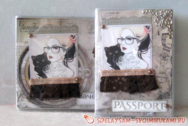 Паспортная обложка и обложка для зачетной книжк