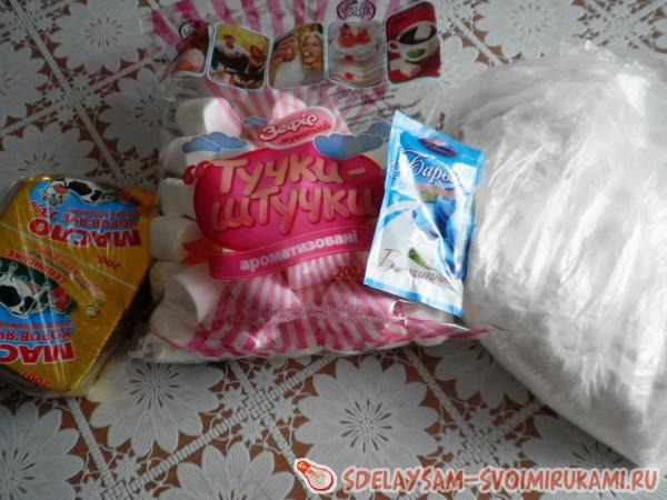 подготовила сахарную мастику