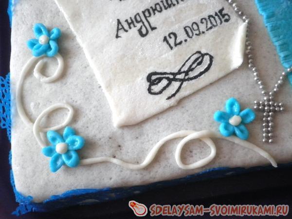 Оформление торта мастикой