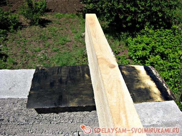 We put waterproofing under the beam
