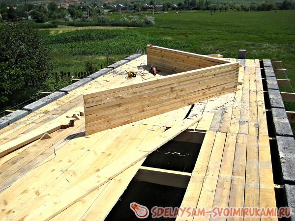 Rafters prepared for installation