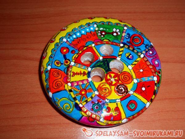 Роспись декоративной пуговицы