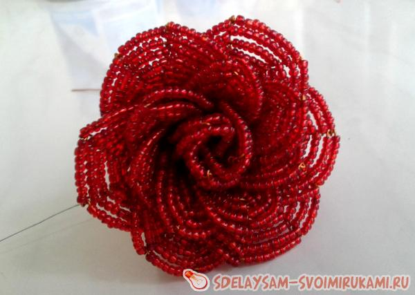 Assembly rose flower
