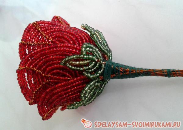 Сборка цветка розы