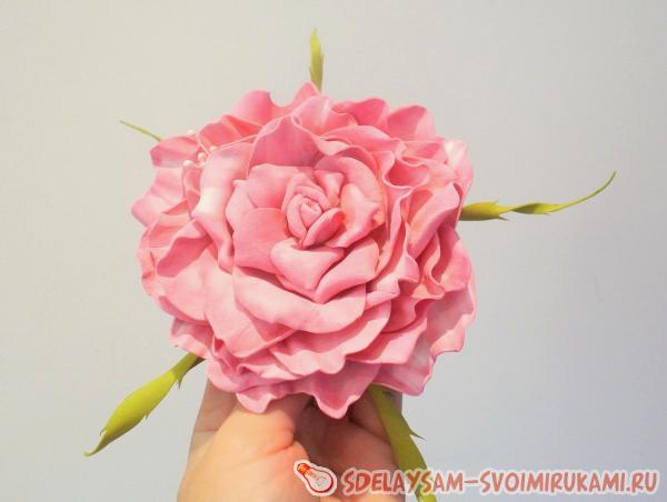 Приклеиваем к розе