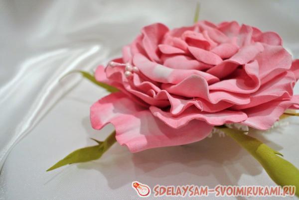 Foamiran tea rose