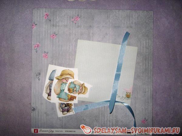 Поздравительный конверт с чипбордом