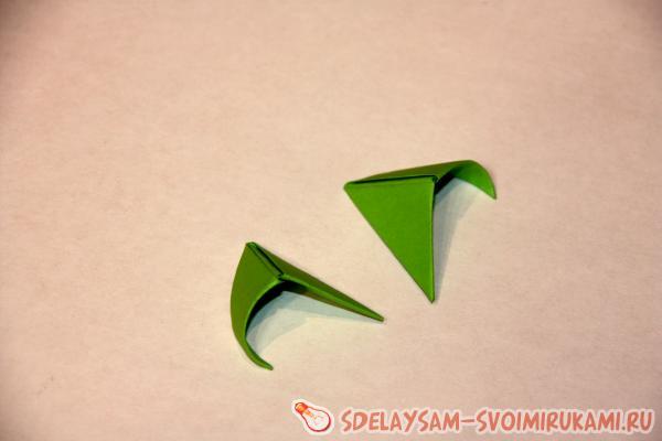 стрекоза модульное оригами
